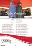 Affiche Oude Meesters, Toneelgroep Graficus, toneelvereniging uit Apeldoorn